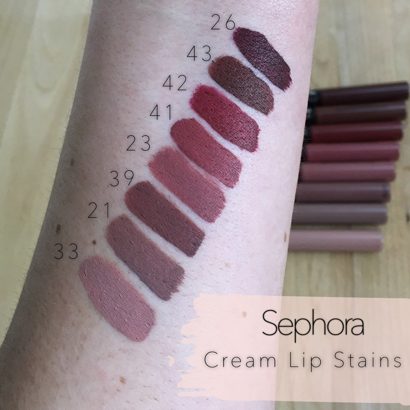 Sephora Collection Cream Lip Stain Swatches Amp Wear Test