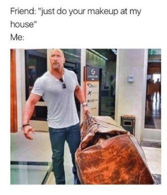 the rock makeup meme