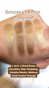 bronze eyeshadow swatches