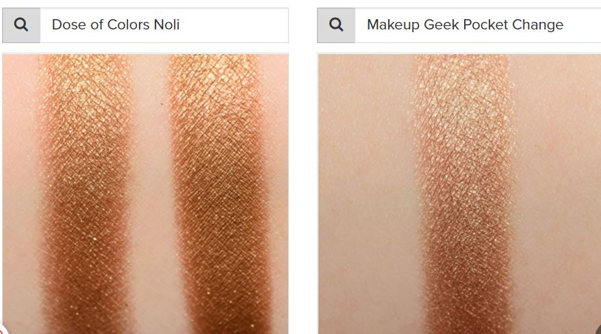 dose of colors noli vs makeup geek pocket change